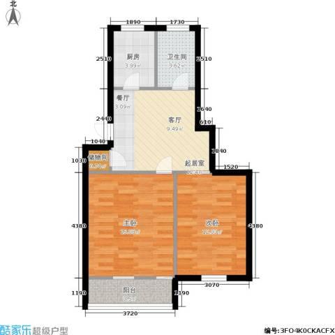 采荷青荷苑2室0厅1卫1厨58.00㎡户型图