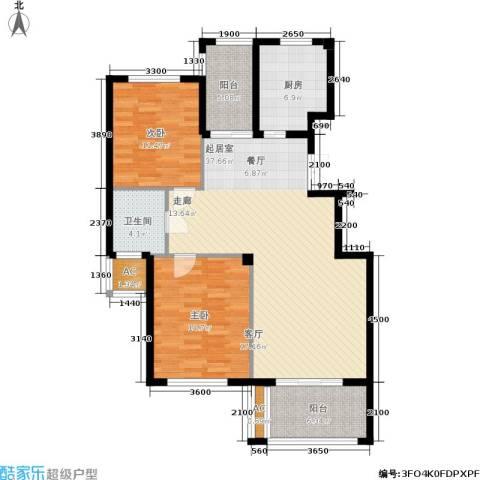 金溪园2室0厅1卫1厨105.00㎡户型图