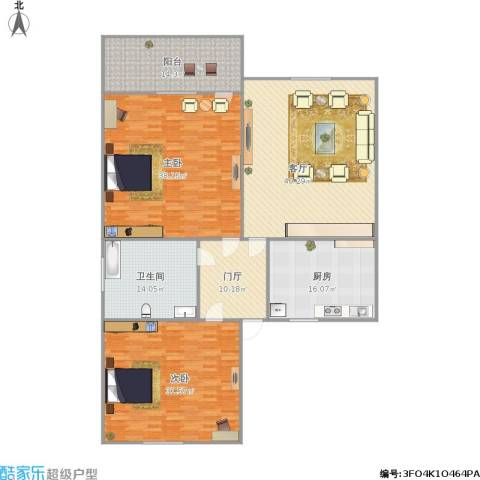 上南一村2室1厅1卫1厨216.00㎡户型图