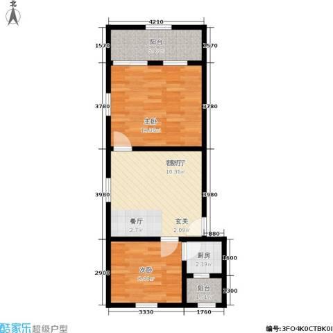 永丰巷2室1厅0卫1厨54.00㎡户型图