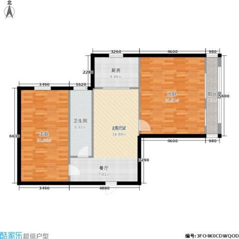 东园高层公寓2室0厅1卫1厨94.00㎡户型图