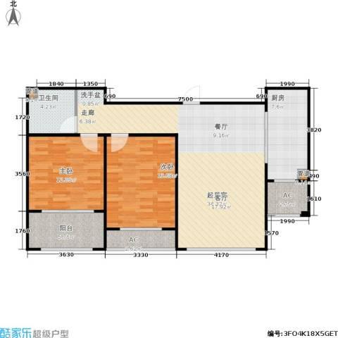 绿地香树花城2室0厅1卫1厨112.00㎡户型图