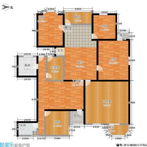 加利大厦4室0厅2卫1厨288.00㎡户型图