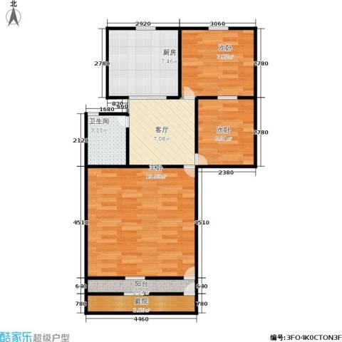 朝晖八区3室1厅1卫1厨60.00㎡户型图