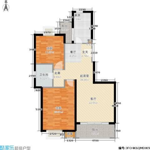天山怡景苑2室0厅1卫1厨130.00㎡户型图