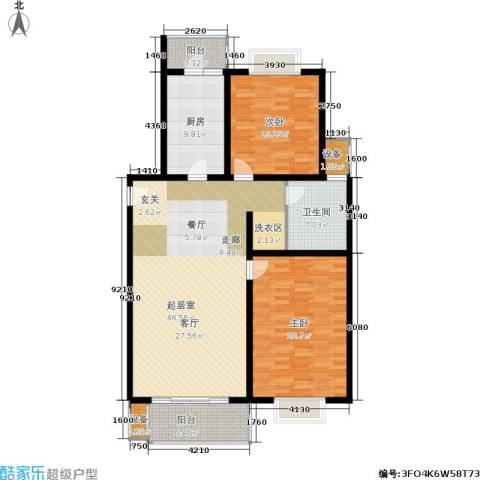 万佳苑2室0厅1卫1厨126.54㎡户型图