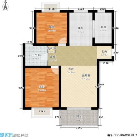 明中龙祥家园2室0厅1卫1厨89.00㎡户型图