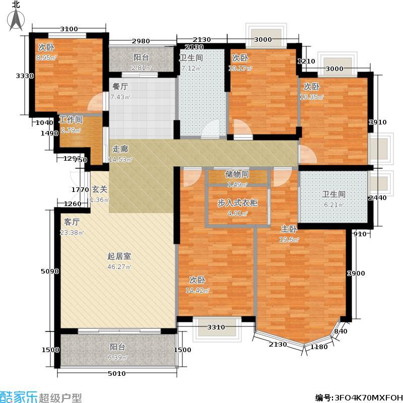 仕嘉名苑162.60㎡房型: 四房; 面积段: 162.6 -182 平方米;户型
