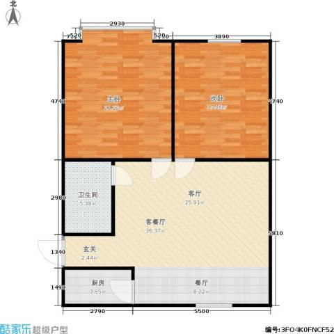 永康苑2室1厅1卫1厨89.00㎡户型图