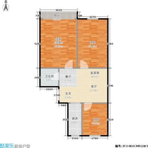水陆寺巷3室0厅1卫1厨80.00㎡户型图