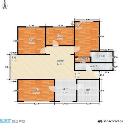 中江花园4室1厅2卫1厨120.00㎡户型图