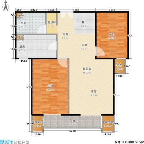 CBD总部公寓2室0厅1卫1厨106.00㎡户型图
