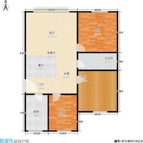 中江花园3室1厅1卫1厨104.00㎡户型图