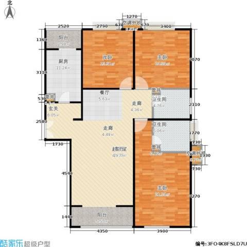 CBD总部公寓3室0厅2卫1厨127.00㎡户型图