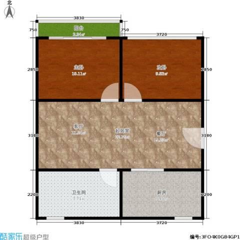 中兴公寓2室0厅1卫1厨65.00㎡户型图