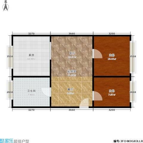 中兴公寓2室0厅1卫1厨62.00㎡户型图