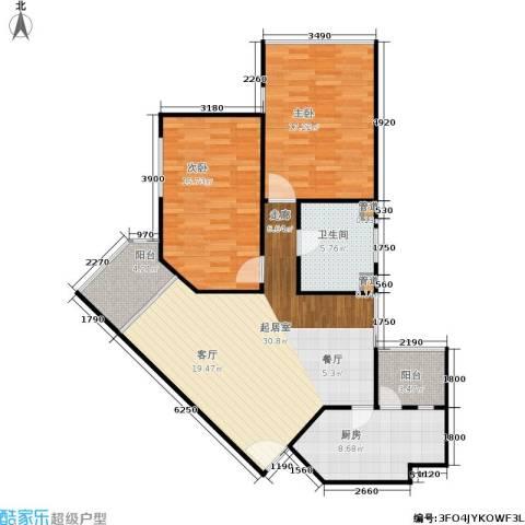 滨江花园2室0厅1卫1厨86.14㎡户型图