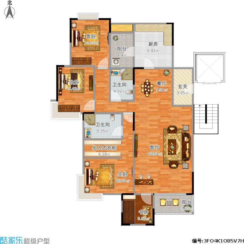 141方三室两厅两卫