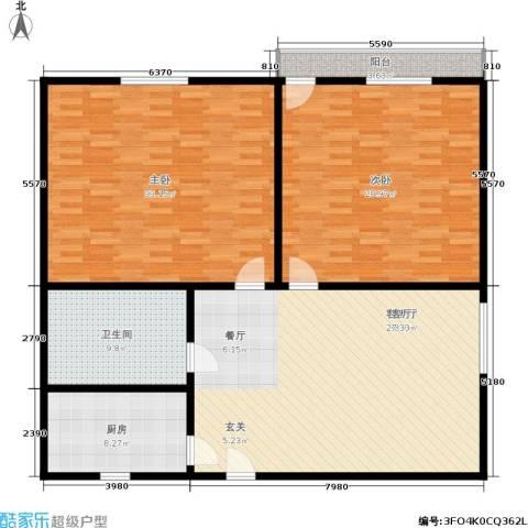 米兰公寓2室1厅1卫1厨133.12㎡户型图