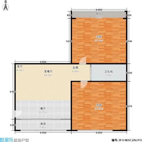 朝晖苑2室1厅1卫1厨138.00㎡户型图