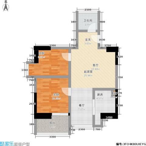 泰华世纪新城2室0厅1卫1厨79.00㎡户型图