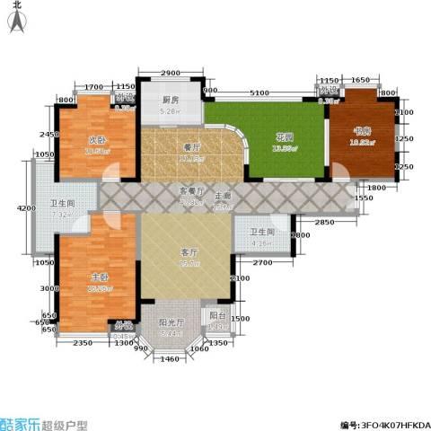 东方米兰3室1厅2卫1厨158.00㎡户型图