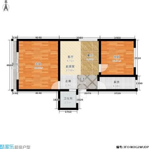 三塘北村2室0厅1卫1厨62.00㎡户型图