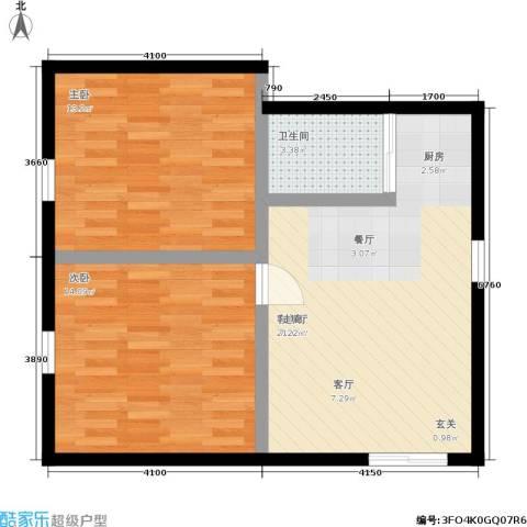 朝晖九区2室1厅1卫0厨59.00㎡户型图
