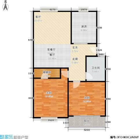 朝晖苑2室1厅1卫1厨97.00㎡户型图