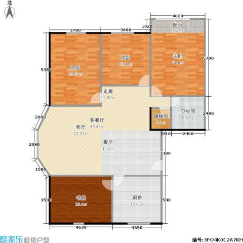 朝晖苑4室1厅1卫1厨147.00㎡户型图