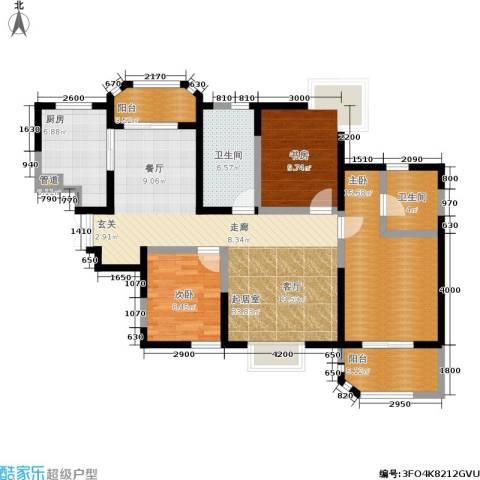 香克林小镇3室0厅2卫1厨136.00㎡户型图