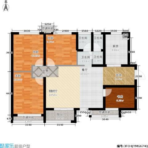 加州壹号4室1厅3卫1厨108.00㎡户型图