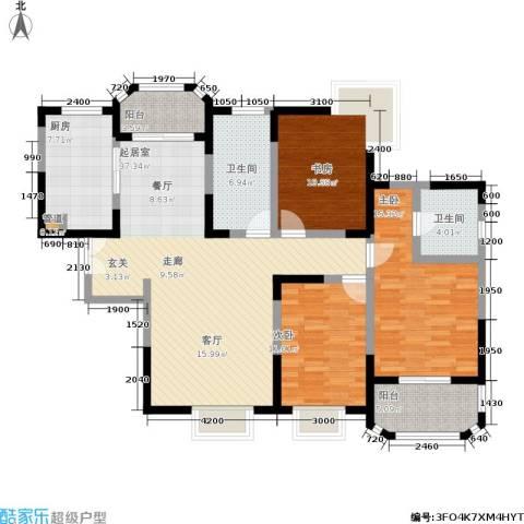 香克林小镇3室0厅2卫1厨141.00㎡户型图