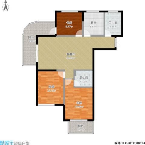 四季风景3室1厅2卫1厨135.00㎡户型图