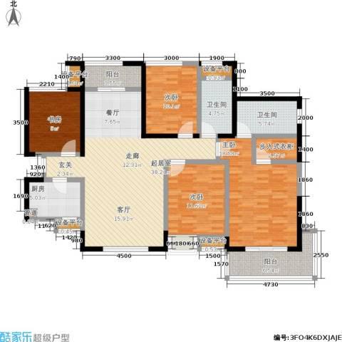龙湖紫都城4室0厅2卫1厨174.00㎡户型图
