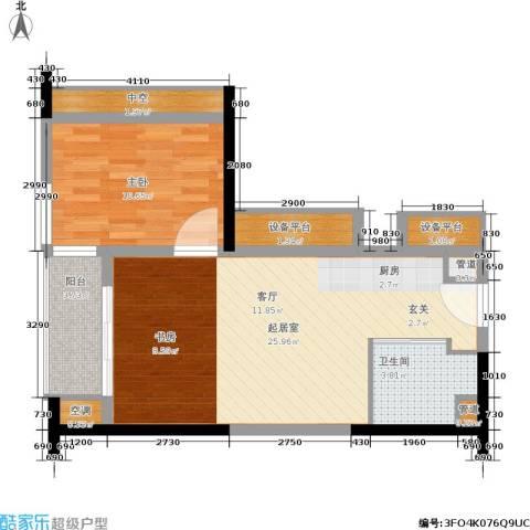 珠江新岸公寓1室0厅1卫0厨59.00㎡户型图