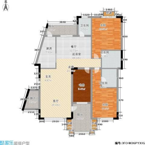 大运家园3室0厅3卫1厨176.00㎡户型图