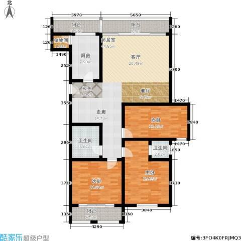 国都公寓3室0厅2卫1厨137.00㎡户型图