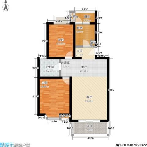 莘闵荣顺苑2室0厅1卫1厨86.00㎡户型图