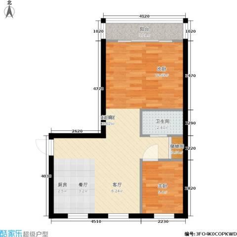 三里家园二区1室0厅1卫0厨51.00㎡户型图