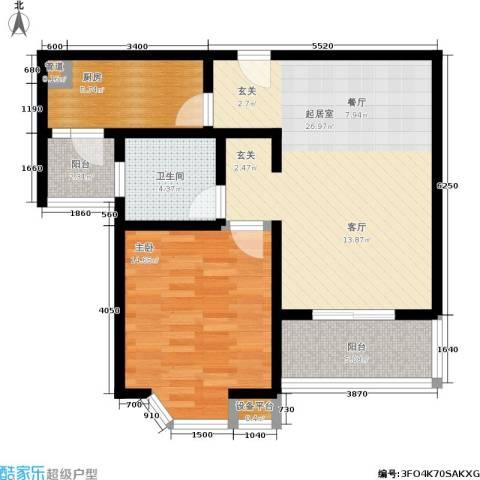 莘闵荣顺苑1室0厅1卫1厨70.00㎡户型图