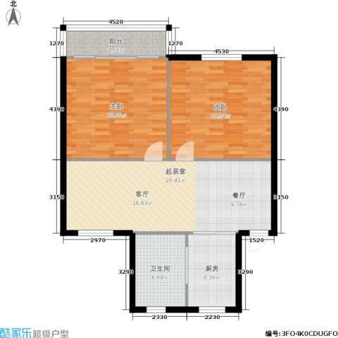 东园高层公寓2室0厅1卫1厨89.00㎡户型图
