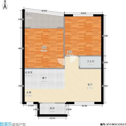 三里家园一区2室0厅1卫1厨95.00㎡户型图