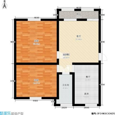 三里家园一区2室1厅1卫0厨89.00㎡户型图