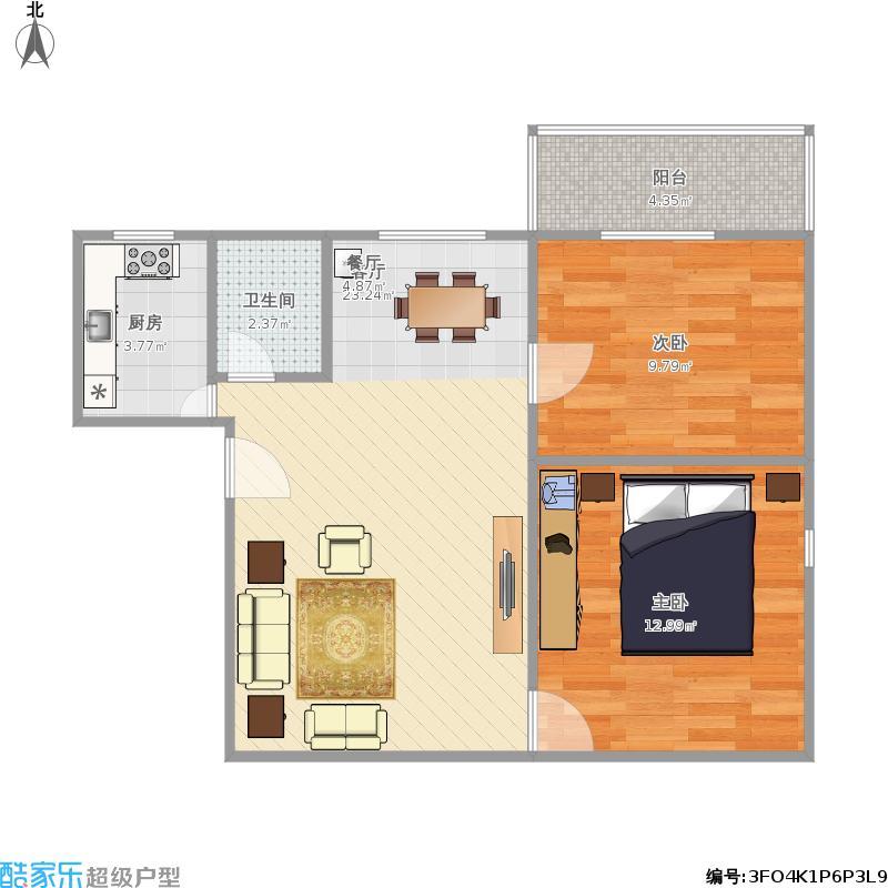 百色市时代阳光城2室一厅