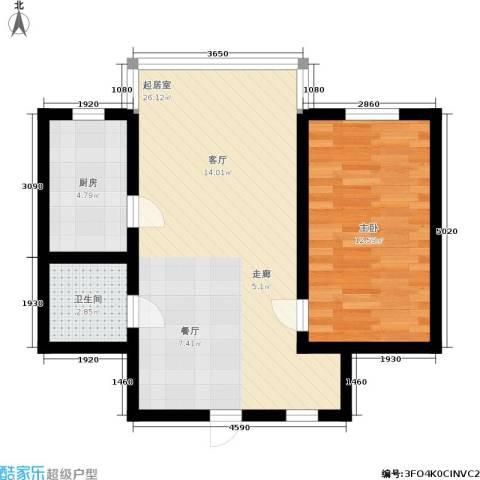 三里家园一区1室0厅1卫1厨53.00㎡户型图