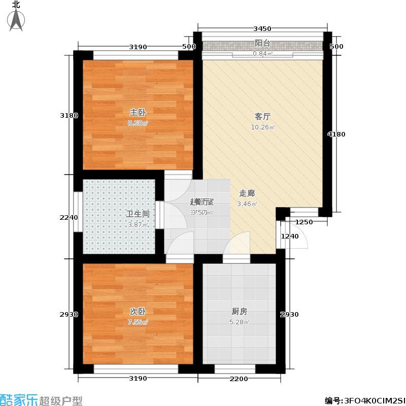 三里家园一区52.00㎡面积5200m户型