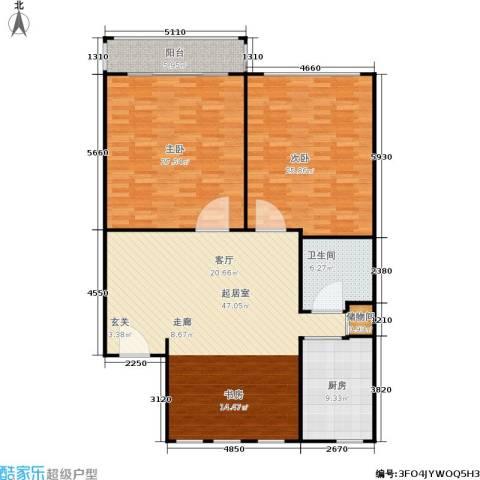 三里新城兰苑2室0厅1卫1厨130.00㎡户型图