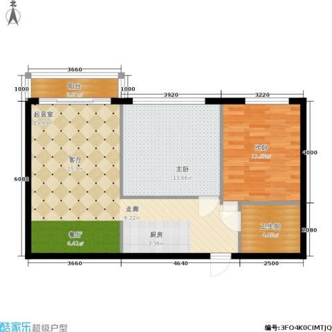 三里家园一区2室0厅1卫0厨69.00㎡户型图