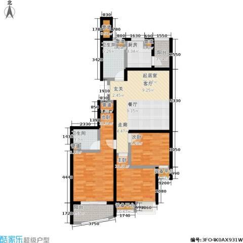 秋涛雅苑3室0厅2卫1厨116.00㎡户型图